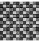 BÄRWOLF BÄRWOLF Glasmosaik Renaissance Grey Mix GL-14043 - 29,8 cm x 29,8 cm