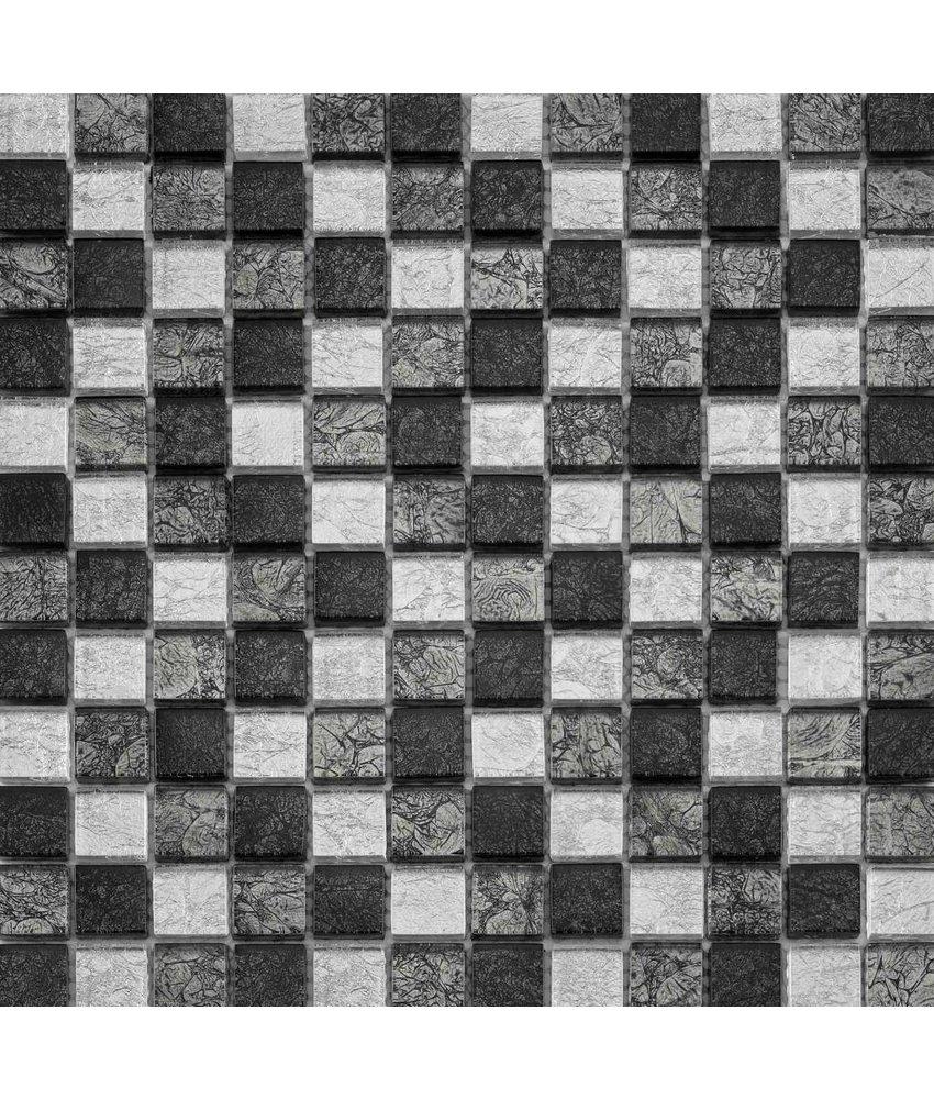 BÄRWOLF Glasmosaik Renaissance Grey Mix GL-14043 - 29,8 cm x 29,8 cm