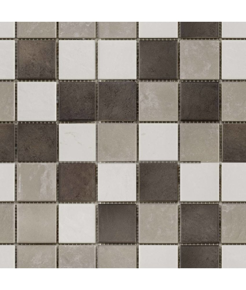 BÄRWOLF Keramikmosaik Grip Mix I  GTM-16800 - 31,4 cm x 31,4 cm