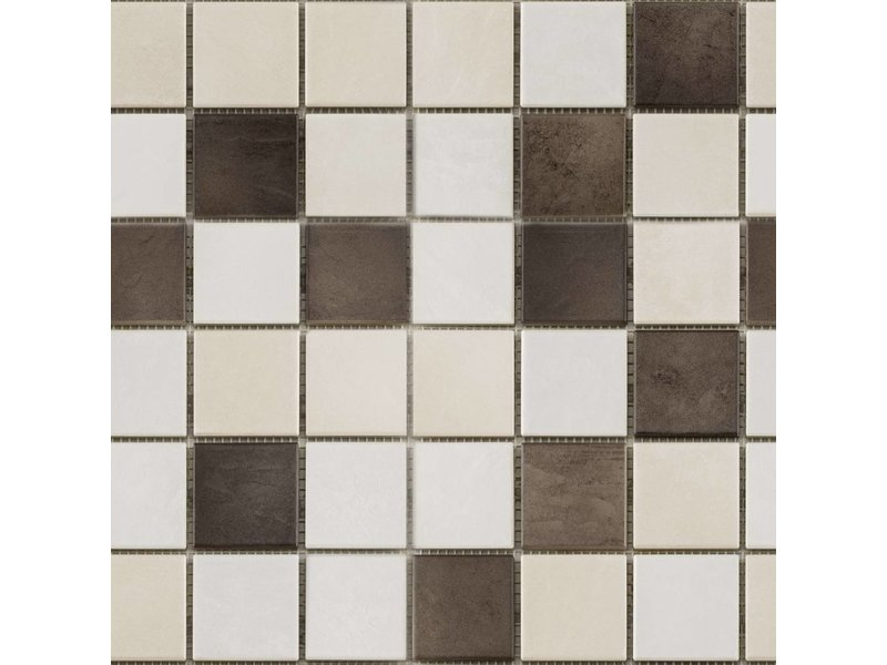 BÄRWOLF BÄRWOLF Keramikmosaik Grip Mix II  GTM-16801 - 31,4 cm x 31,4 cm