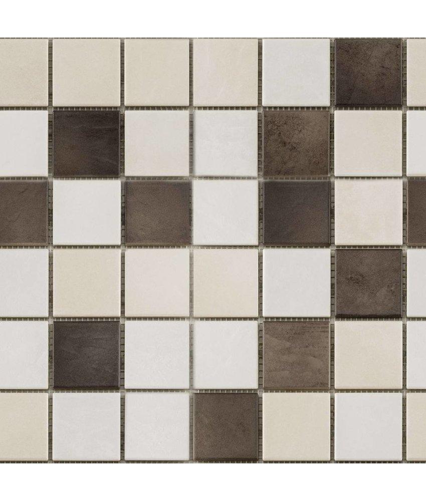 BÄRWOLF Keramikmosaik Grip Mix II  GTM-16801 - 31,4 cm x 31,4 cm