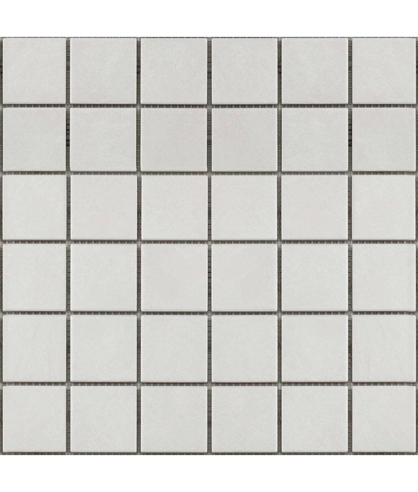 BÄRWOLF Keramikmosaik Grip Weiß GTM-16802 - 31,4 cm x 31,4 cm