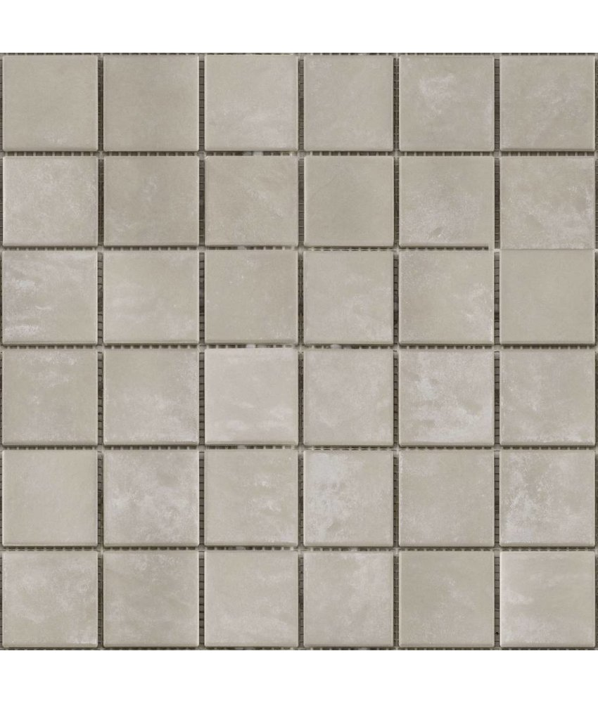 BÄRWOLF Keramikmosaik Grip Beige GTM-16804 - 31,4 cm x 31,4 cm