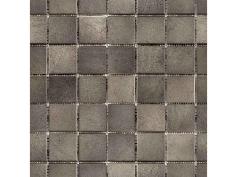 BÄRWOLF BÄRWOLF Keramikmosaik Grip Braun GTM-16805 - 31,4 cm x 31,4 cm