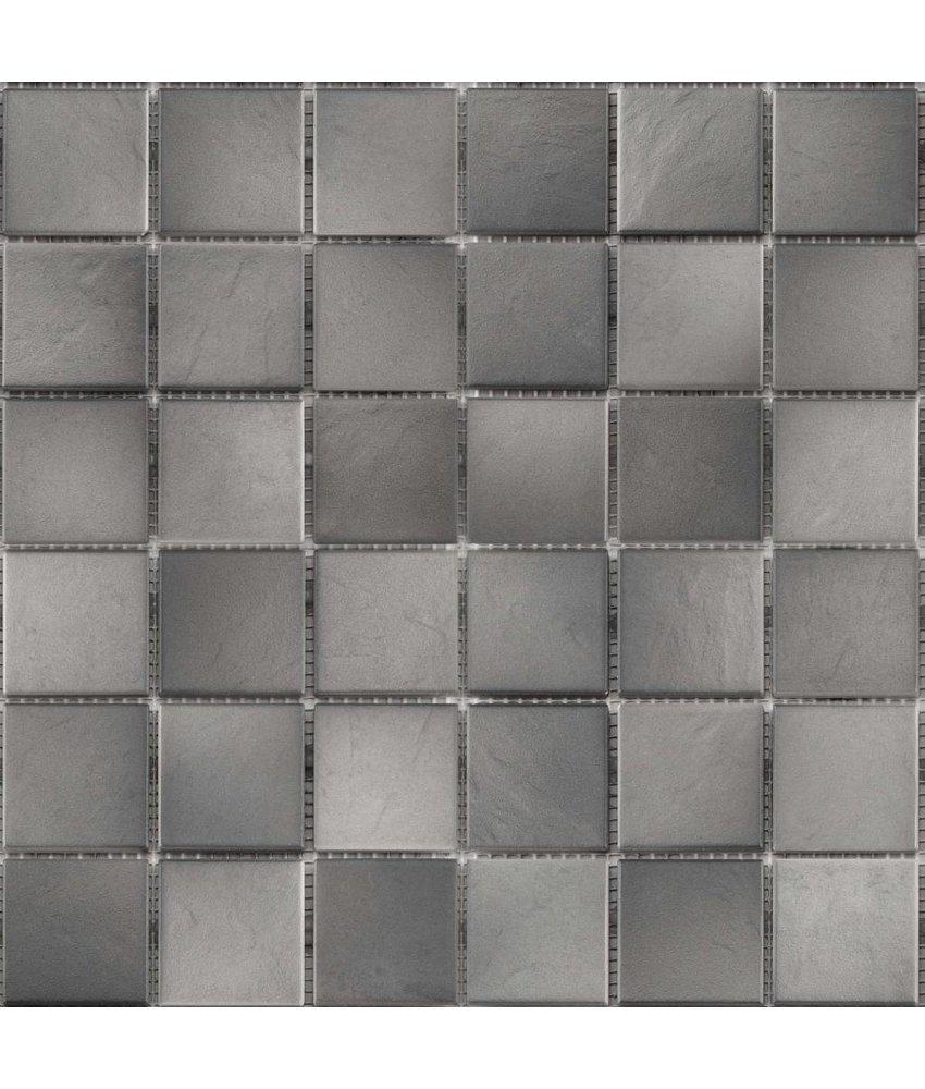 BÄRWOLF Keramikmosaik Grip Grau GTM-16808 - 31,4 cm x 31,4 cm
