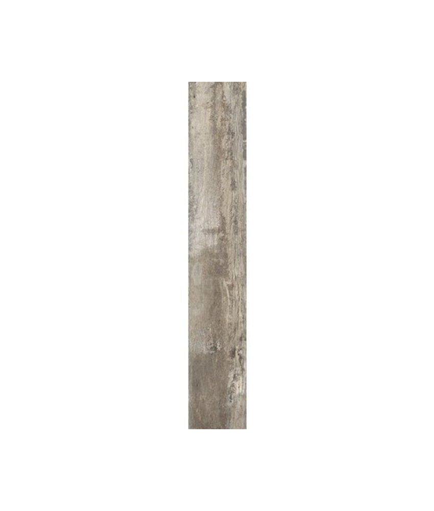 Bodenfliese Mertens Grau Holzoptik glasiert matt - 19,5 cm x 121,5 cm x 1 cm