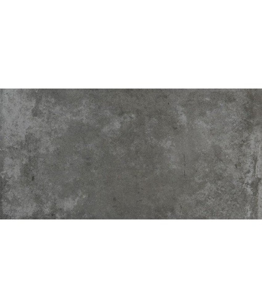 Bodenfliese Atlas Anthrazit Betonoptik glasiert - 37,5 cm x 75 cm x 1 cm