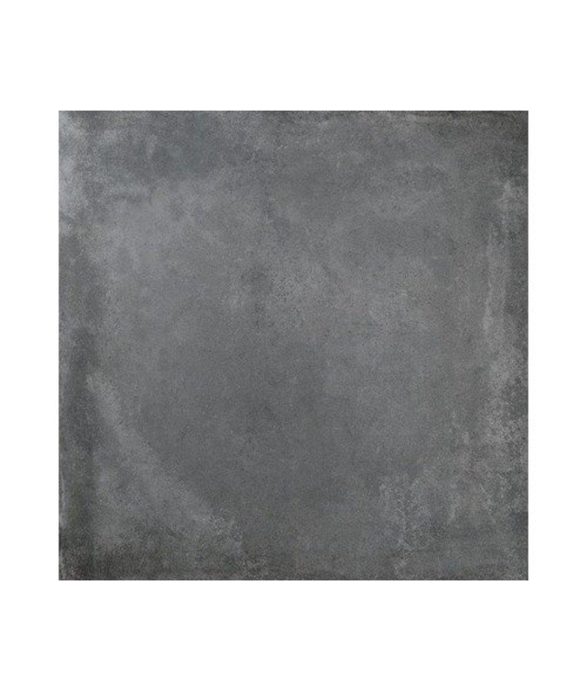 Bodenfliese Atlas Anthrazit Betonoptik glasiert -75 cm x 75 cm x 1 cm