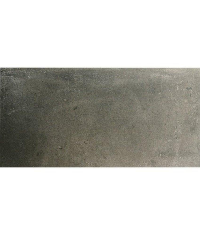 Bodenfliese Bellagio Graphit Feinsteinzeug  glasiert matt 40 cm x 80 cm x 1 cm