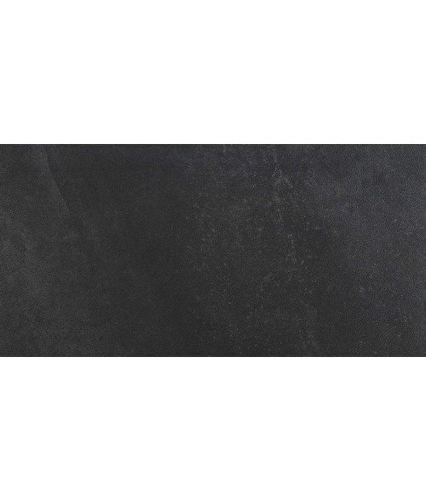 Bodenfliese Buxy Anthrazit Feinsteinzeug glasiert matt - 30 cm x 60 cm x 1 cm