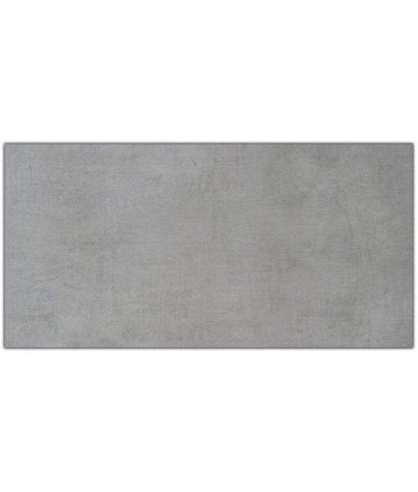 Bodenfliese Cement Grau Feinsteinzeug glasiert matt - 45 cm x 90 cm x 1 cm