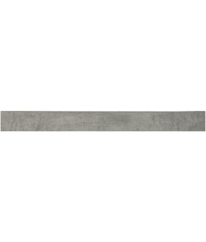 Cement  Grau Sockel Feinsteinzeug matt - 6 cm x 60 cm x 1 cm