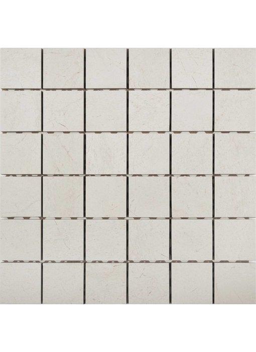 Mosaikfliese Crema Marfil Feinsteinzeug Matt  - 30 cm x 30 cm x 1 cm