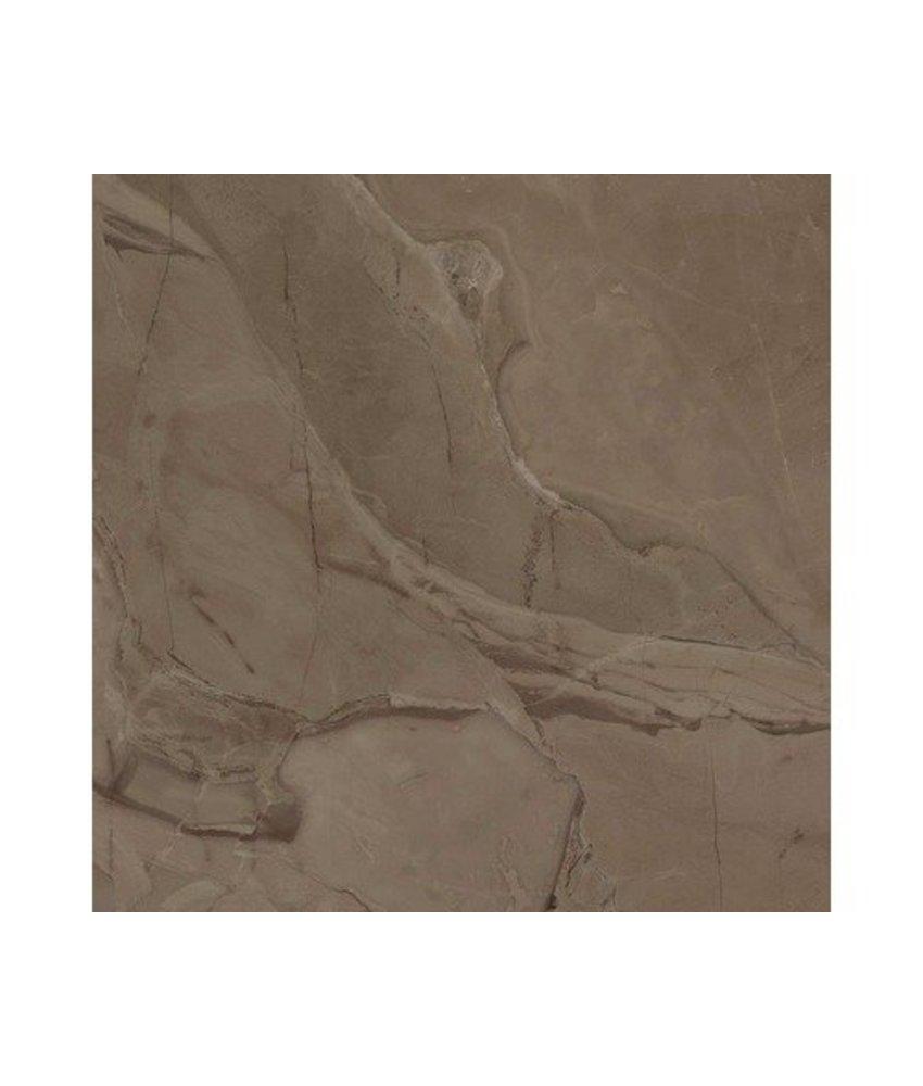 Bodenfliese Crystal Braun Feinsteinzeug matt - 60,4 cm x 60,4 cm x 1 cm