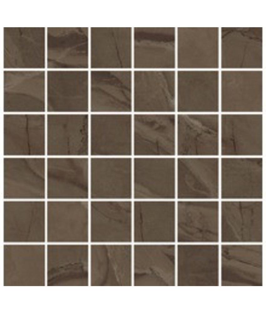 Mosaikfliese Crystal Beige Feinsteinzeug matt  - 30 cm x 30,4 cm x 1 cm