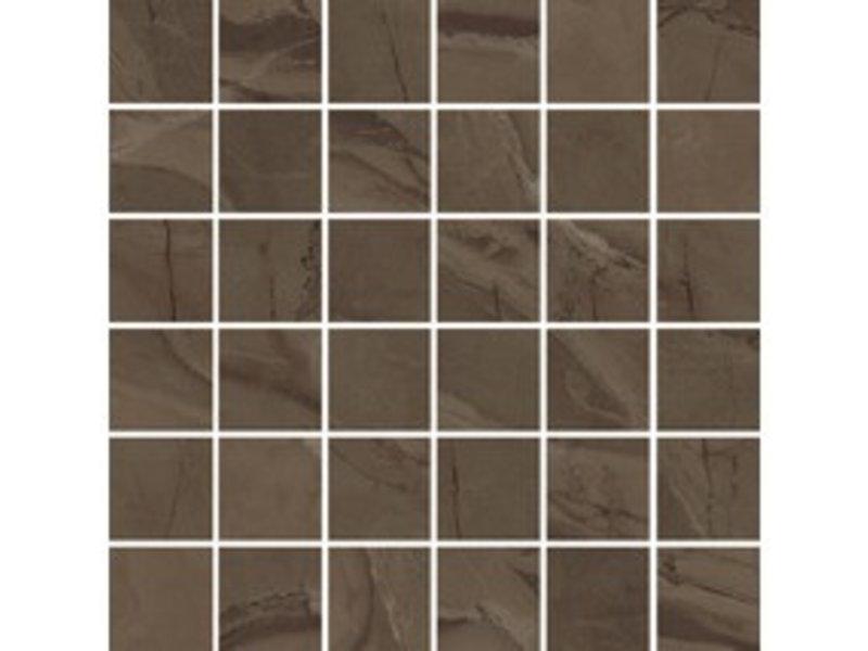 Mosaikfliese Crystal Braun Feinsteinzeug Matt  - 30 cm x 30 cm x 1 cm