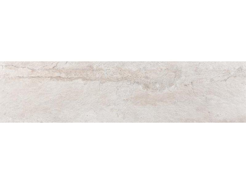 Bodenfliese Daifor Weiß Feinsteinzeug matt - 29,8 cm x 120 cm x 1 cm
