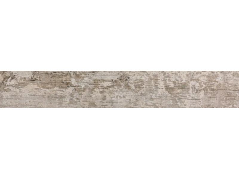 Bodenfliese Dakota Weiß Feinsteinzeug glasiert - 15 cm x 90 cm x 1 cm