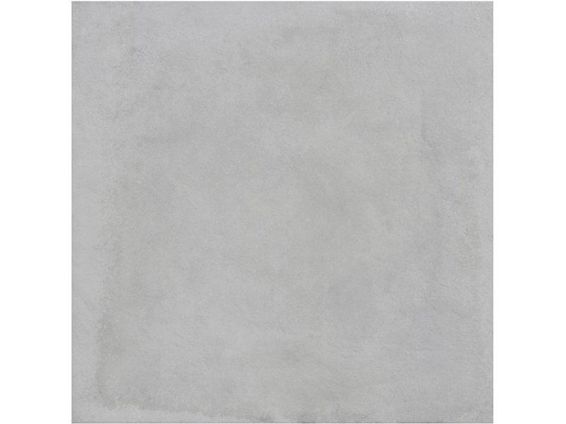 Bodenfliese Dolmen Weiß Feinsteinzeug matt - 120 cm x 120 cm x 0,9 cm