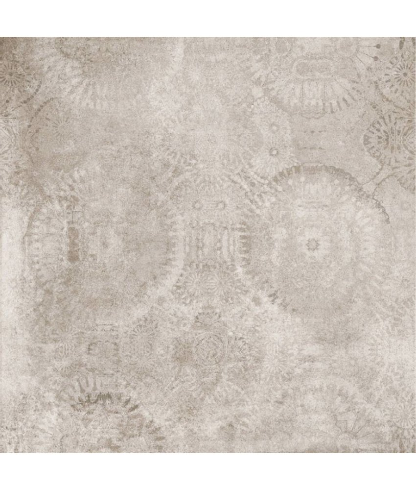Bodenfliese Dolmen Beige Dekor 4 Motive matt - 80 cm x 80 cm x 1 cm