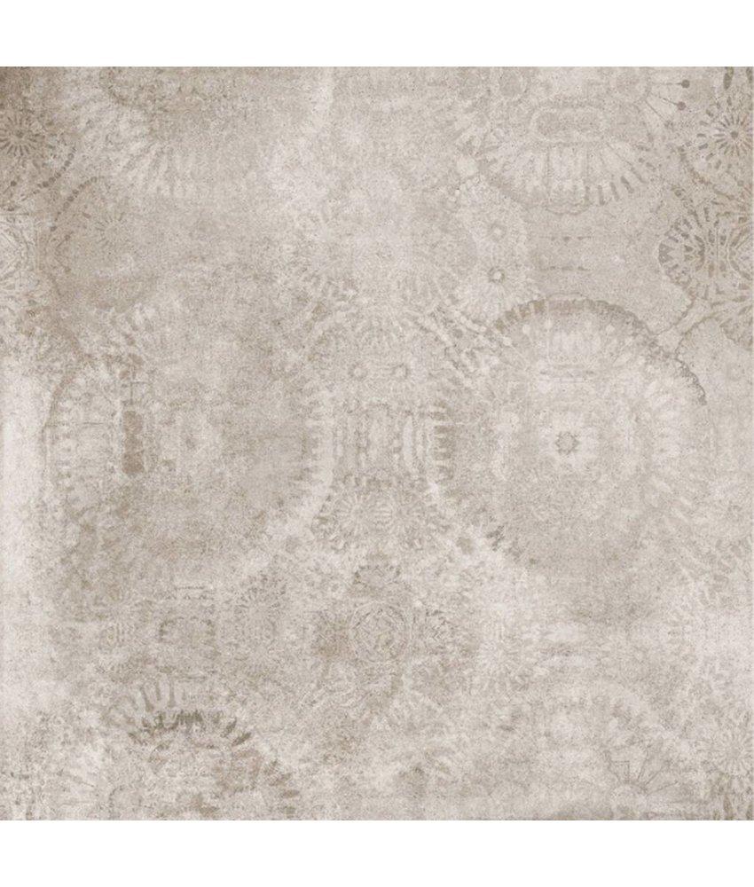 Bodenfliese Mondel Beige Dekor 4 Motive matt - 80 cm x 80 cm x 1 cm