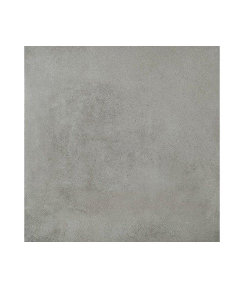 Bodenfliese Mondel Grau Feinsteinzeug matt - 61 cm x 61 cm x 0,9 cm