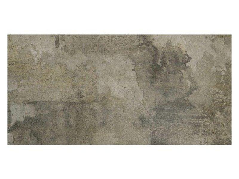 Bodenfliese Elment Graphit Feinsteinzeug glasiert matt - 45 cm x 90 cm x 1 cm