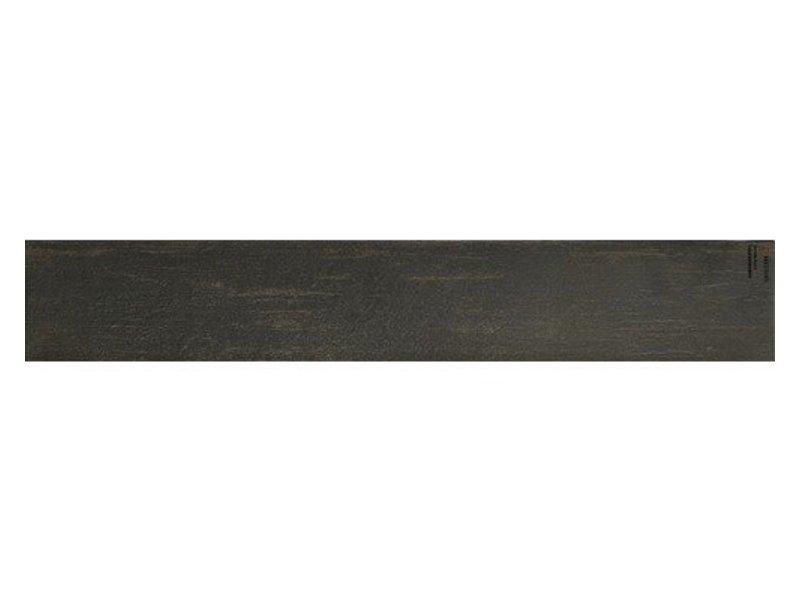 Bodenfliese Enygma Schwarz Feinsteinzeug glasiert - 15 cm x 90 cm x 1 cm
