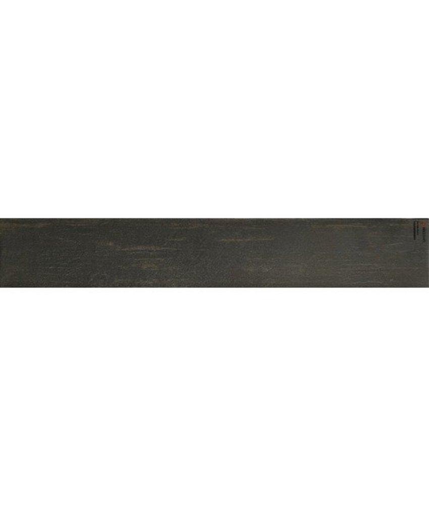 Bodenfliese Igma Schwarz Feinsteinzeug glasiert - 15 cm x 90 cm x 1 cm