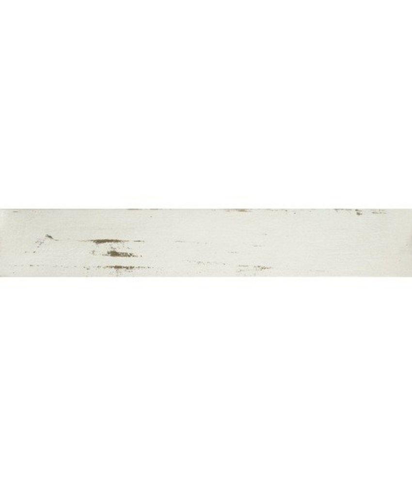 Bodenfliese Enygma Weiß matt Feinsteinzeug glasiert - 15 cm x 90 cm x 1 cm