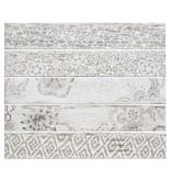 Bodenfliese Igma Weiß Accessory 5 Motive glasiert - 15 cm x 90 cm x 1 cm