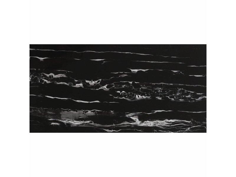 Bodenfliese Evolution Nero Aparro  glasiert - 30 cm x 60 cm x 1 cm