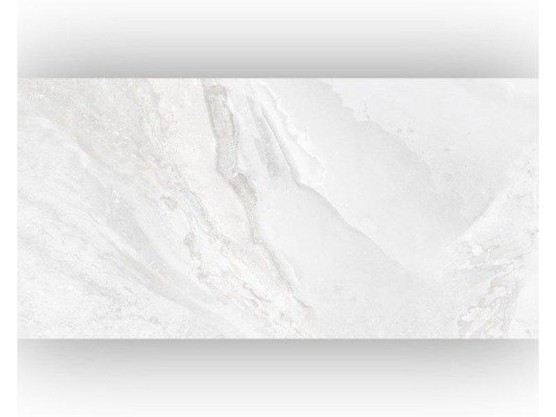 Bodenfliese Geostone White Feinsteinzeug glasiert glänzend - 30 cm x 60 cm x 1 cm