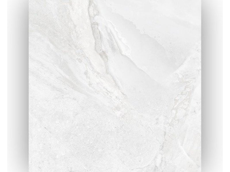Bodenfliese Geostone Weiß Feinsteinzeug glasiert glänzend - 60 cm x 60 cm x 1 cm