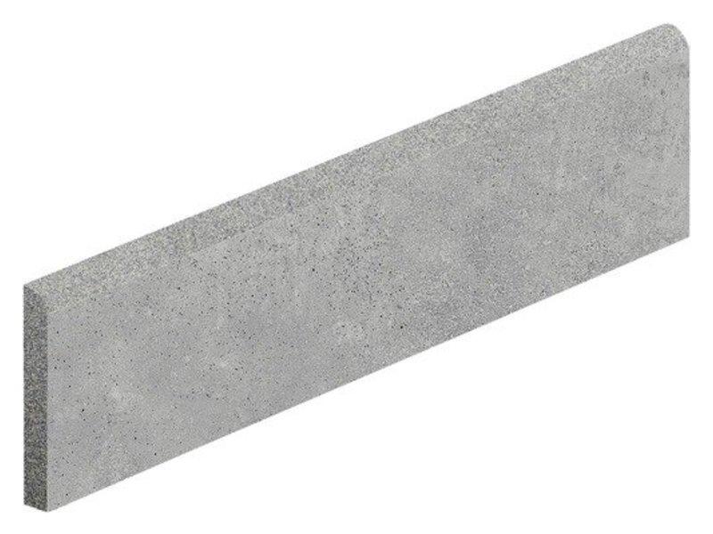 Arctec Grau Sockel Feinsteinzeug glasiert matt - 7 cm x 60 cm x 0,95 cm