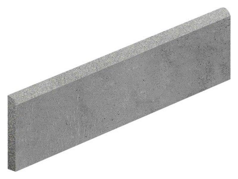 Arctec Graphit Sockel Feinsteinzeug glasiert matt - 7 cm x 60 cm x 0,95 cm