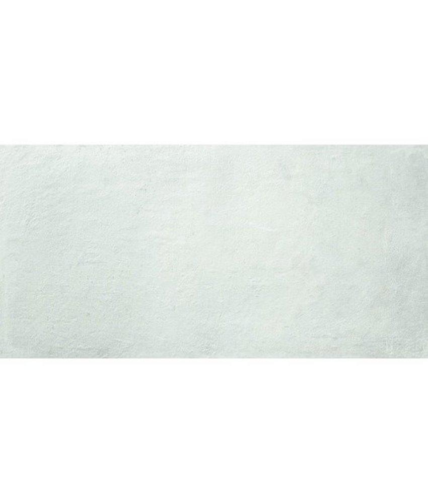 Bodenfliese Loft Weiß Feinsteinzeug  glasiert matt - 45 cm x 90 cm x 1 cm