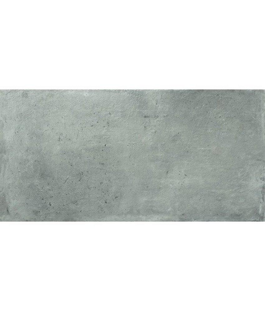 Bodenfliese Industrial Grau Feinsteinzeug  glasiert matt - 45 cm x 90 cm x 1 cm
