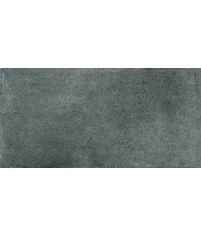Bodenfliese Loft Anthrazit Feinsteinzeug  glasiert matt - 45 cm x 90 cm x 1 cm
