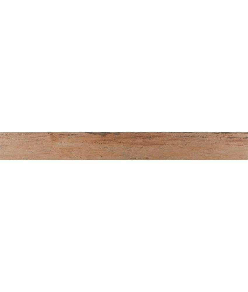 Bodenfliese Kenzo Hellbraun Feinsteinzeug glasiert matt - 20 cm x 180 cm x 1,1 cm
