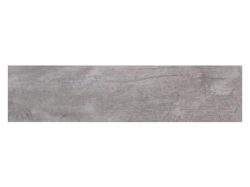 Bodenfliese Legno Denver White Grey Feinsteinzeug glasiert poliert - 16 cm x 65 cm x 0,9 cm