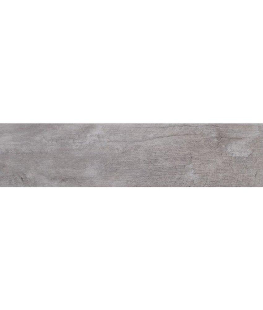 Bodenfliese Ecno Denver White Grey Feinsteinzeug glasiert poliert - 16 cm x 65 cm x 0,9 cm