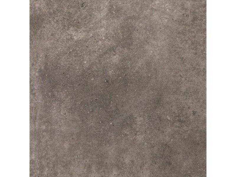 Bodenfliese Peru Dark Grey Feinsteinzeug glasiert matt - 42,5 cm x 42,5  cm x 0,8