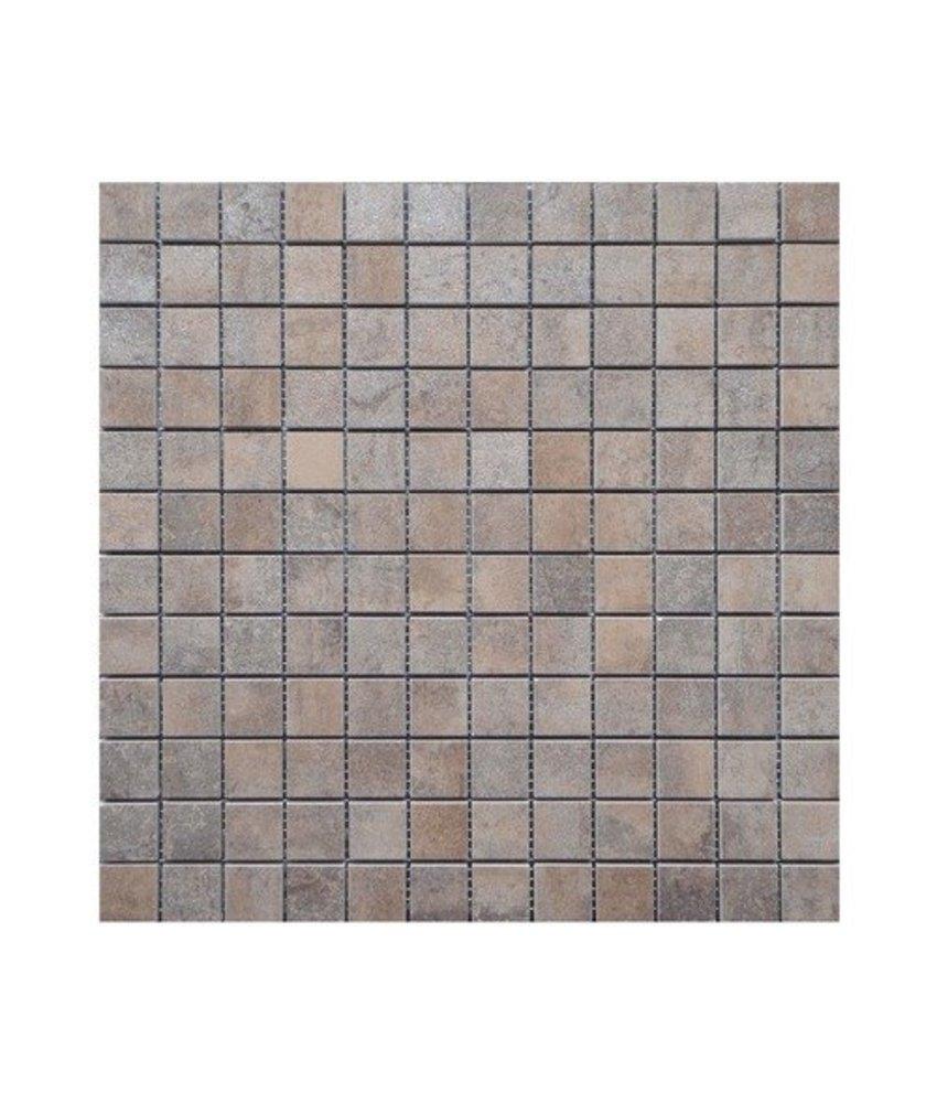 Metallic  Barcelona Mosaik Feinsteinzeug glasiert - 30 cm x 30 cm x 0,8 cm