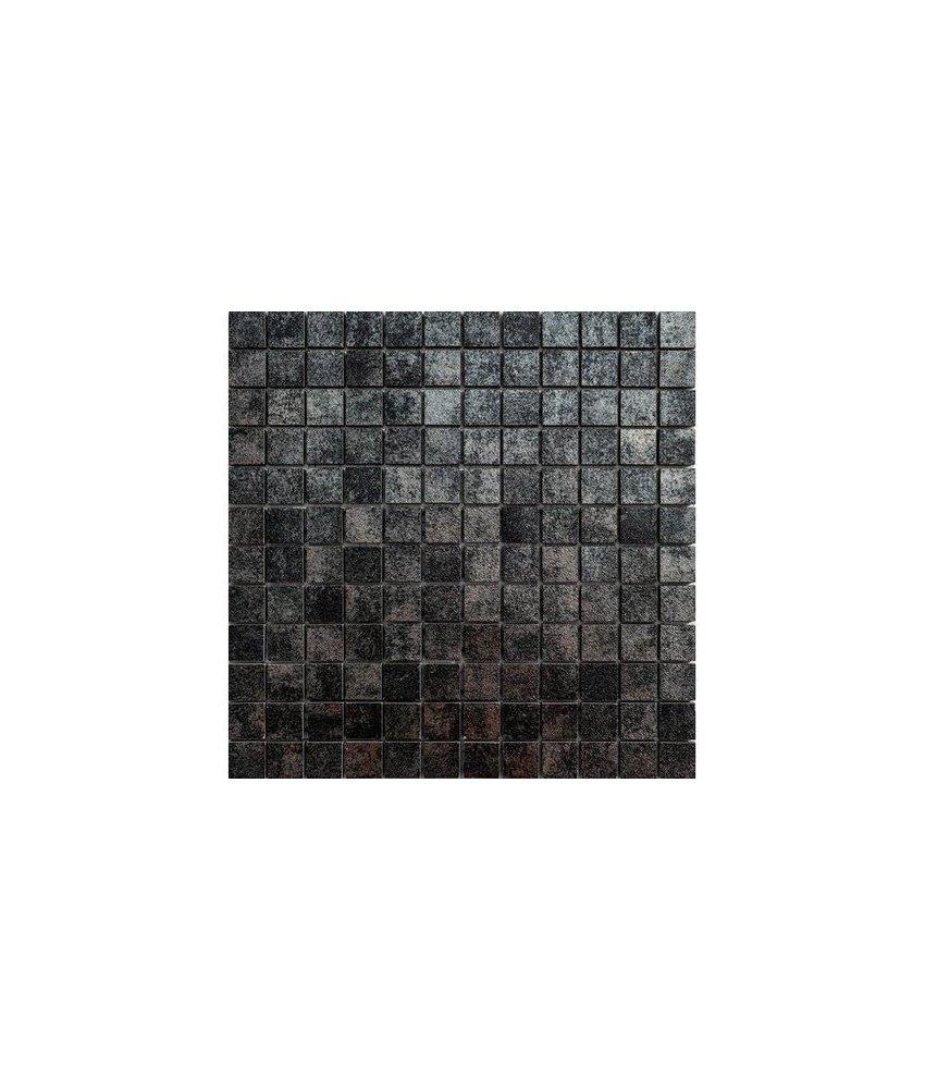 Metallic Madrid Mosaik Feinsteinzeug glasiert - 30 cm x 30 cm x 0,8 cm