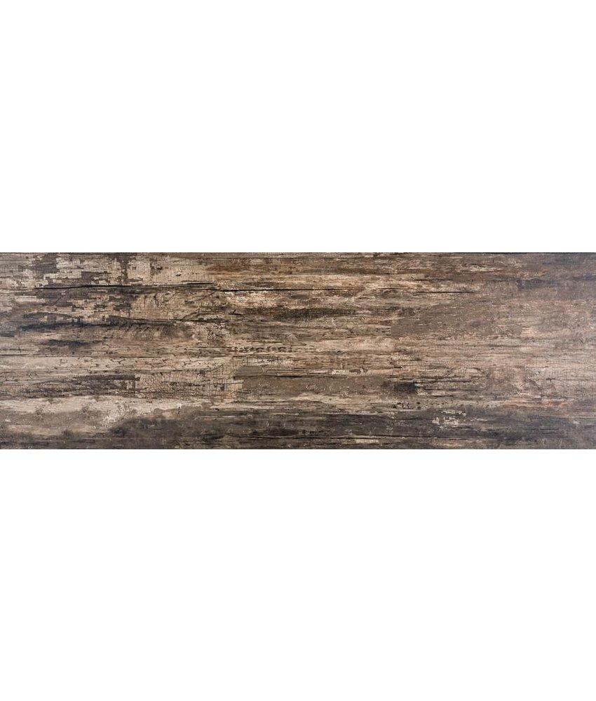 Bodenfliese Nebraska Dark Feinsteinzeug poliert - 30 cm x 90 cm x 1 cm