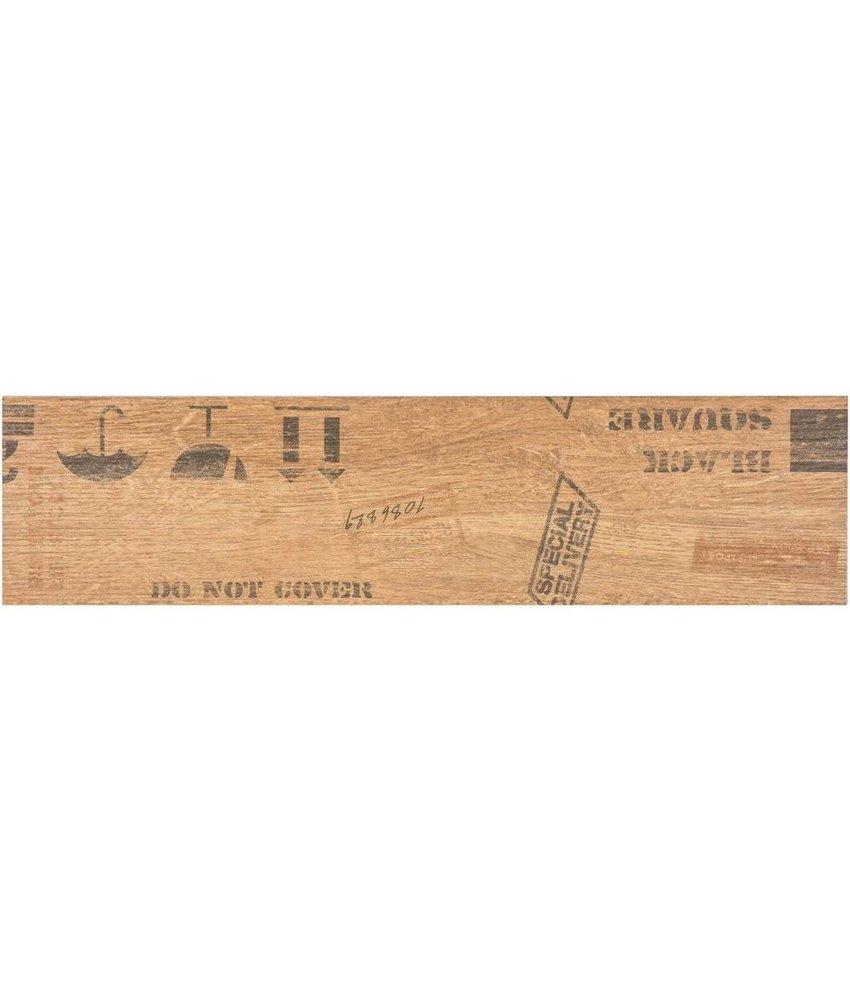 Bodenfliese Oregon Beige  Dekor Feinsteinzeug matt - 15 cm x 60 cm x 0,9 cm
