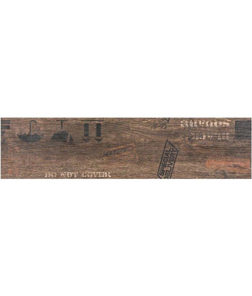 Bodenfliese Oregon Brown  Dekor Feinsteinzeug matt - 15 cm x 60 cm x 0,9 cm