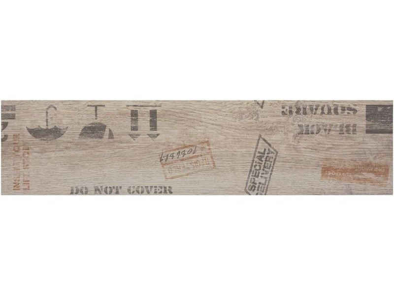 Bodenfliese Oregon Gery Dekor Feinsteinzeug matt - 15 cm x 60 cm x 0,9 cm