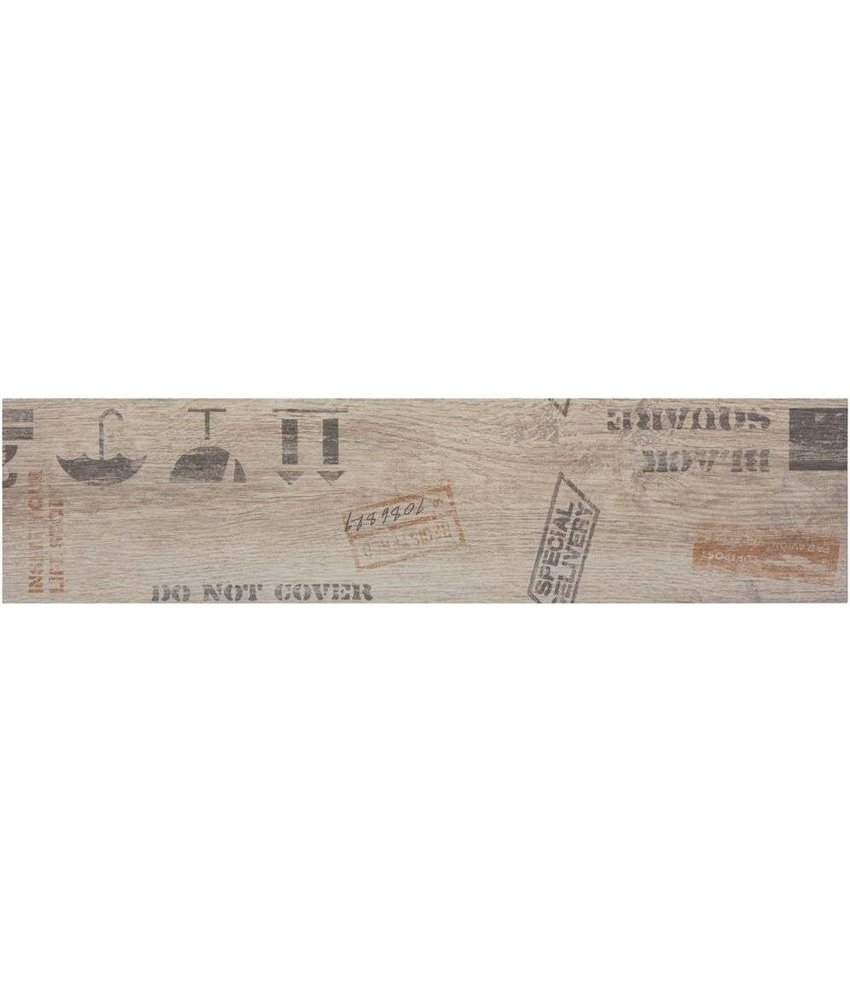 Bodenfliese Oregon Grey Dekor Feinsteinzeug matt - 15 cm x 60 cm x 0,9 cm